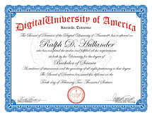 digital University Certificate